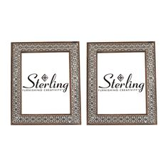 Set of 2 metal picture frames, the warm tones of the wooden frame can be seen through the open relief metal work. https://joyfulhomegoods.com/collections/frames/products/sterling-industries-set-of-2-pierced-metal-picture-frames-172-016-s2?variant=20311272839 Free gift for our Pinterest fans! $5 gift card, use code PIN5 to redeem!