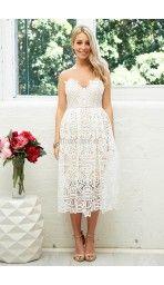 Ella Lace Dress in White