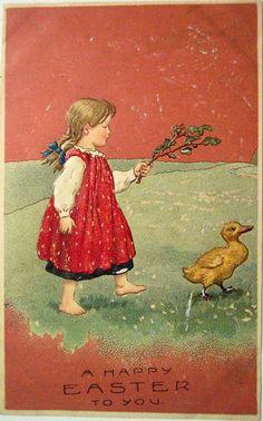 Easter Postcards + other Vintage Easter Goodies Vintage Greeting Cards, Vintage Postcards, Vintage Images, Easter Art, Easter Crafts, Bunny Crafts, Easter Decor, Easter Ideas, Easter Eggs
