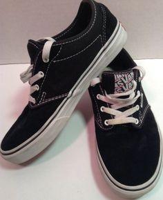 VANS Kids Skateboard Sneakers - Black Atwood Low Skateboarding Shoes -  Unisex 6 Youth #VANS #Athletic