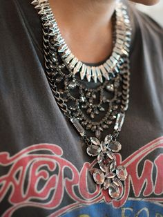 Graphic Tee and statement necklace