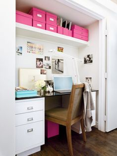Add a touch of colorful organization to your office space. | http://domino.com