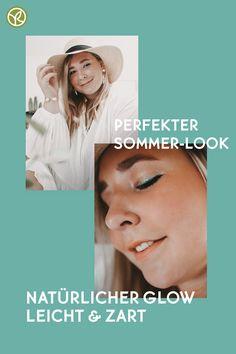 Strahlende Augen, ein Hauch von Meer auf den Lidern und die Sonne auf Deinen Wangen. Mit den leichten und zarten Produkten von Yves Rocher kannst Du Dir das perfekte Sommer Make-up zaubern. #summerlook #make-up #naturallook Concealer, Sommer Make Up, Glow, Summer Looks, Makeup, Movie Posters, Souffle, Sun, Maquiagem