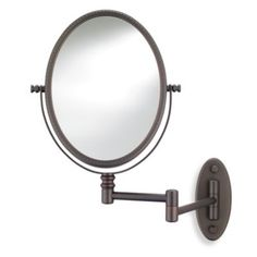 Conair Oval Bead Wall Mount Bronze Mirror - BedBathandBeyond.com