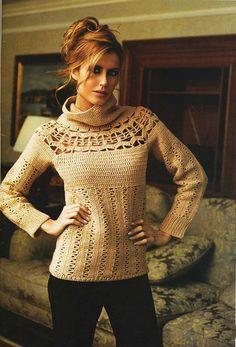 Women's Crochet sweater crochet blouse crochet top