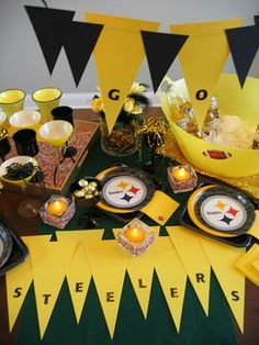 Steelers party dessert tables pinterest pittsburgh steelers h ere are a few super bowl party ideas even if your home team isn in the game these first two photos are from my super bowl party last filmwisefo Gallery