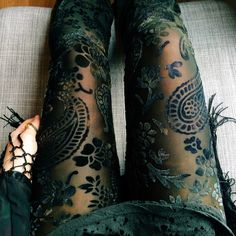 The most beautiful things ive ever seen.shopblacksalt: These are coming back to Black Salt! Paisley burned velvet bell bottoms for fall - in just a few short days! Looks Street Style, Looks Style, My Style, Boho Fashion, Fashion Beauty, Autumn Fashion, Womens Fashion, Witch Fashion, Style Fashion