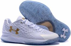 Stephen Curry One White Gold Friend Family Championship Sneakers