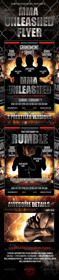 MMA Fight Flyer Posters Pinterest - holiday flyer template example 2