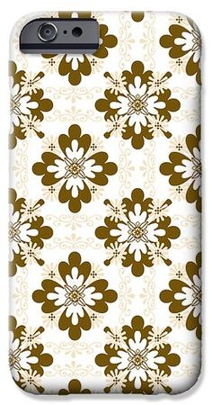 Taupe Floral Pattern iPhone 6 Case by Christina Rollo.  Protect your iPhone 6 with an impact-resistant, slim-profile, hard-shell case.  The image is printed directly onto the case and wrapped around the edges for a beautiful presentation.  Simply snap the case onto your iPhone 6 for instant protection and direct access to all of the phones features!