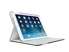 [CATALOGUE PRINTEMPS 2015] FabricSkin Keyboard Folio for iPad Air Black: Un revêtement intérieur et extérieur minutieusement conçu. Le clavier Bluetooth® s'intègre parfaitement aux matériaux de l'étui. Étui recto-verso résistant, protégeant à la fois l'av