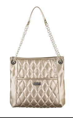 Grace Adele Handbag ~ Alex ~ Metallic $80 patent quilted bag with convertible chain straps.  www.styles2love.us