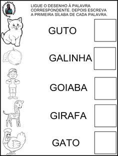 Resultado de imagem para atividade sobre a familia silabica do G