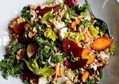 Farro Salad with Vegetables and Feta