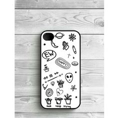 Phone Case Black and White Tumblr For iPhone 4/4S, iPhone 5/5S, iPhone... (£5.39) ❤ liked on Polyvore featuring accessories, tech accessories, iphone and phone case