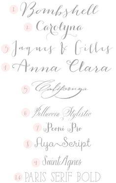{Typeface Tuesday} Wedding Fonts #mydesignfixations