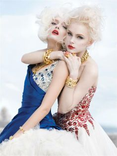 Jessica Stam & Lily Donaldson wearing Alexander McQueen photographed by Sebastian Faena for V Magazine, June 2008 Jessica Stam, Lily Donaldson, V Magazine, Fashion Week, Look Fashion, Fashion Design, Fashion Details, Fashion Models, Glamour