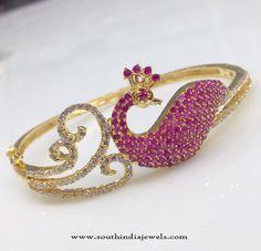One Gram Gold Bracelet Designs, 1 Gram Gold Bracelet Models, Gold Plated Bracelet Collections. Peacock Jewelry, Real Gold Jewelry, Hand Jewelry, Gold Jewellery, Jewelry Shop, Jewelry Making, Gold Plated Bracelets, Bangle Bracelets, Necklaces