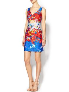 Milly watercolor print dress