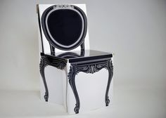 Looking for Eco-friendly, inexpensive and fun home projects? Build a Victorian chair out of recycled paper.