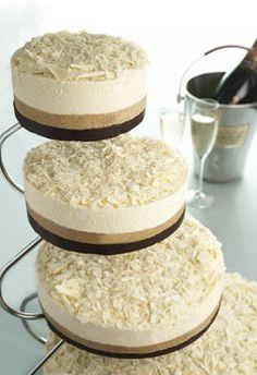 Cheesecake wedding cake?! genius!