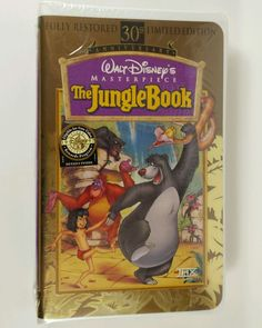 The Jungle Book VHS Disney 30th Anniversary Limited Edition THX New Sealed