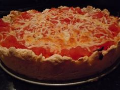 To die for deep dish, stuffed, #glutenfree pizza recipe. OMG!