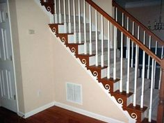 Best decorating ideas story foyer staircase color photos tierra with stairs entry hall furniture entryway table storage large chandelier small entrance Foyer Staircase, Entry Stairs, Staircase Design, Staircase Painting, Hall Painting, Staircase Ideas, Foyer Wall Decor, Stair Decor, Painted Staircases