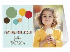Zabawna, kolorowa kartka na urodziny dziecka