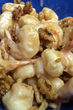 "Honey Walnut Shrimp | ""This is hands down the best thing I have ever done with shrimp! Maybe even better than PF Chang's version."" #copycat #copycatrecipes Chinese Stir Fry Sauce, Honey Walnut Shrimp, Candied Walnuts, Shrimp Recipes Easy, Fried Shrimp, Creamy Sauce, Copycat Recipes, Recipes Dinner, Sauces"