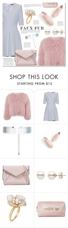 """""""Faux Fur Coats"""" by pankh ❤ liked on Polyvore featuring Charlotte Simone, Alexander McQueen, Accessorize, Rebecca Minkoff, Ross-Simons, Neiman Marcus, pastel and faux"""