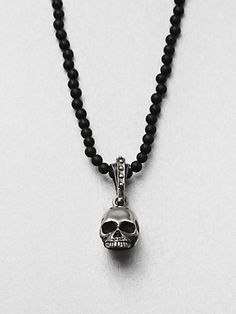 King Baby Studio Hamlet Skull Beaded Necklace