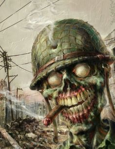 Háború koponya