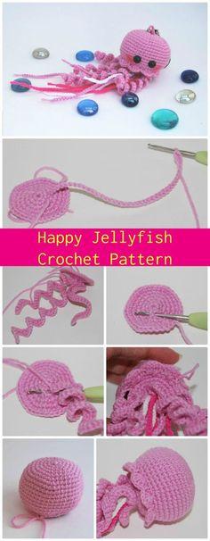 Happy Jellyfish Amigurumi Crochet Pattern - Crochet Jellyfish - 14 Free Crochet Patterns - Page 2 of 3 - DIY & Crafts