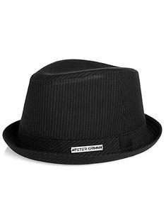 Mens - Peter Grimm Black Fedora - Men's Wearhouse