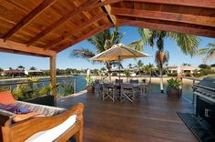 Coconut Grove Holiday House - Houses for Rent in Mermaid Waters, Queensland, Australia Coconut Grove, Waterfront Homes, Gold Coast, Perfect Place, Condo, Pergola, Outdoor Structures, Patio, Country