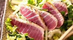 This Marinated Ahi Tuna recipe is perfect for a high-end dinner with minimal effort. Making for the second time this week! Ahi Tuna Recipe, Tuna Steak Recipes, Fish Recipes, Seafood Recipes, Cooking Recipes, Healthy Recipes, Skinny Recipes, Healthy Foods, Recipies