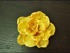 yellow handmade rose / 4 euros / Žuta ružica | OMNIS ART - handmade