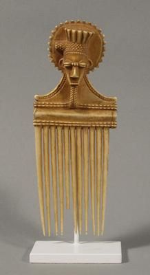 Comb  (219)    Comb. West Africa, Ivory Coast: Atye. 19th/20th century. Elephant ivory. h. 19.3 cm. Acquired 1960. Robert and Lisa Sainsbury Collection. UEA 219. www.scva.ac.uk