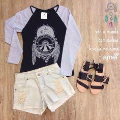 Amor na alma e a leveza nos pés  #lojaamei #leveza #alma #short #sandalia #handmade #tshirt