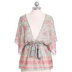 hanako chiffon kimono top. Soft and romantic. $32.99