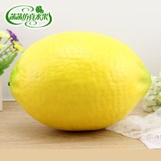 Free Shipping  Artificial Fruit and Vegetables Extra large lemon foam model toys oversized film props