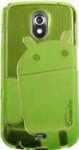 Green - Cruzer Lite Androidified A2 High Gloss TPU Soft Gel Skin Case - For Samsung Galaxy Nexus (SCH-i515 & GT-i9250)