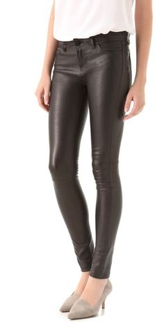 Replace your boyfriend jean this Fall with a pair of Vince Leather Motocross Skinny Pants. These will actually get you a boyfriend, instead of just his jeans ;)