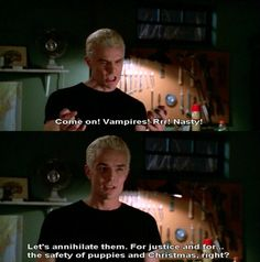The safety of puppies and Christmas! My favourite quote from the show! Love spike!