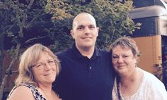 My second cousin Chris Beall and his mother/my dear friend Pam.