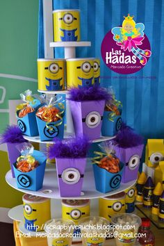 mesa de dulces tematica de minions - Buscar con Google Minions Birthday Theme, Minion Theme, Leo Birthday, 1st Birthday Parties, Birthday Ideas, Despicable Me Party, Minions Despicable Me, Minion Party, Minion Pinata