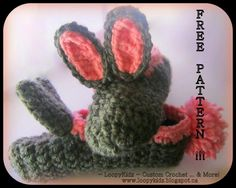 best cheap 1fa2c 2f50b Ravelry Super Simple Bunny Slippers pattern by Loopy Kidz