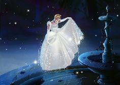 Walt Disney's Princess Cinderella Glitter Dress Walt Disney, Disney Amor, Disney Girls, Disney Magic, Disney And Dreamworks, Disney Pixar, Cinderella Art, Classic Cartoons, Disney Fan Art
