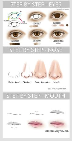 Basic tutorial - face features by *LeeMinKyo on deviantART